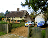Thatched cottage near Lancing